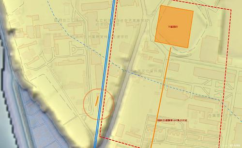 市川市国府台遺跡 地理院地図 イメージ図 アップ