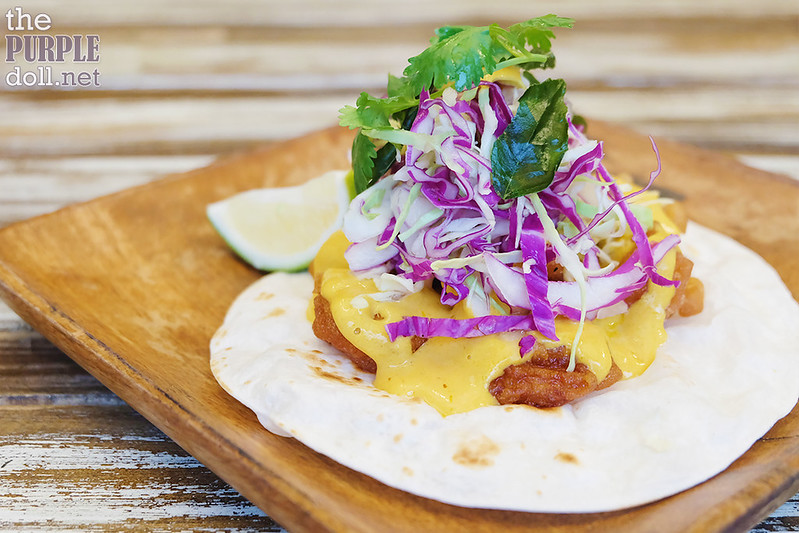 Salted Egg Shrimp Taco (P145)