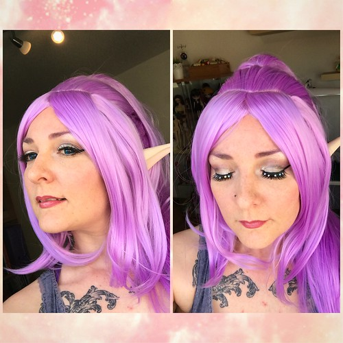 Wig and makeup test for Janna