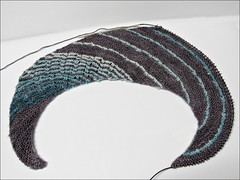 Charred Teal Shawl, as of 6/21/17