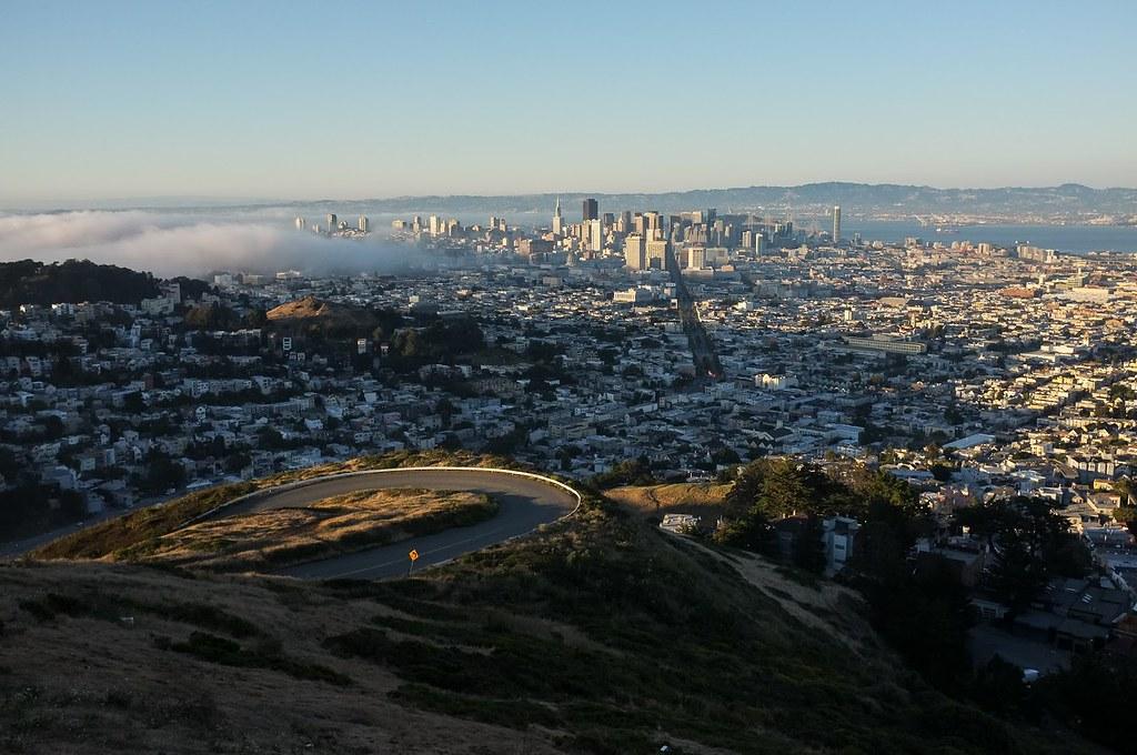 Vue panoramique sur San Francisco depuis les Twin Peaks. Photo d'Aurélien Audy.