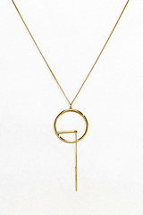 Asos gold pendant necklace
