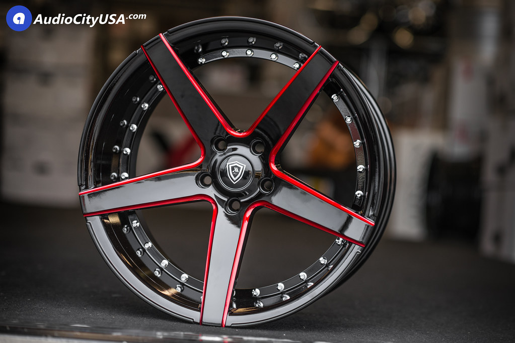 20 mq wheels 3226 gloss black red milled accents deep concave wheels audiocityusa. Black Bedroom Furniture Sets. Home Design Ideas