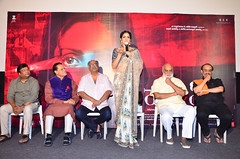 Mom Movie Trailer Launch Stills