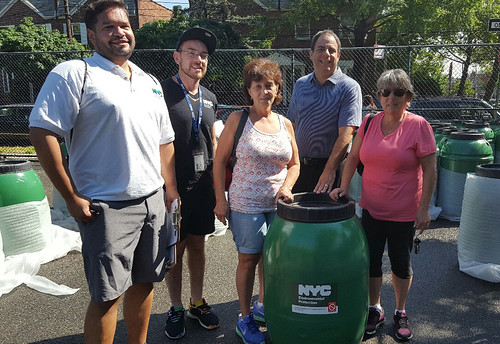 Queens Rain Barrel Giveaway with Council Member Constantinides