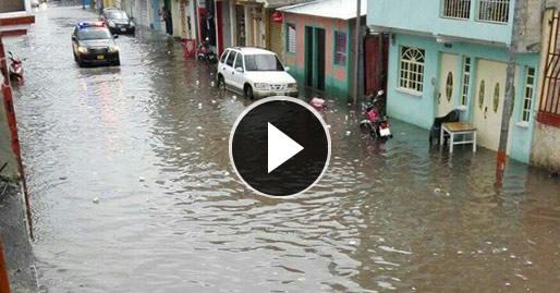 Fuerte lluvia deja inundaciones