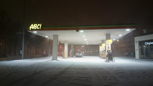 ABC service station in a snowstorm | by hugovk