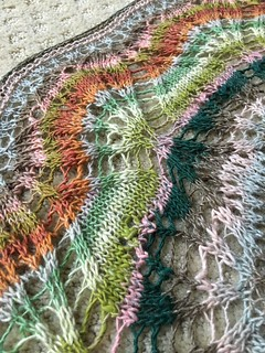 Finished 22 Leaves Shawl | by ca.bookwyrm