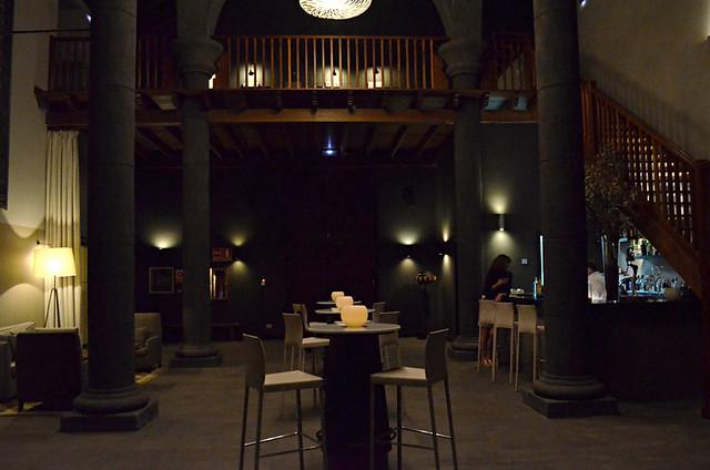 Bar in a church at the Hacienda del Conde in Buenavista del Norte