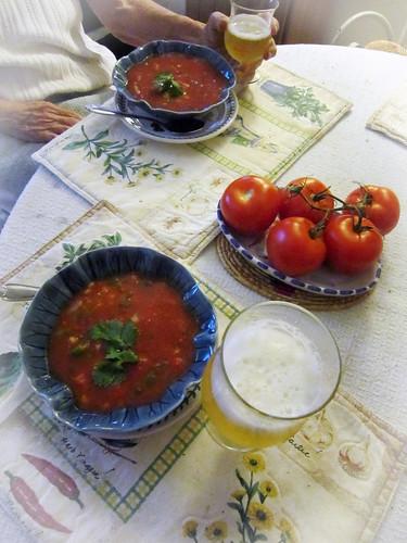 Gazpacho & witbier
