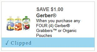 Gerber Grabbers or Organic Pouches