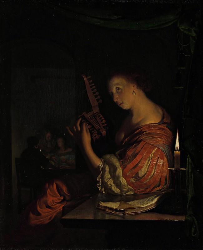 Frans van Mieris (I) - Het stemmen van de luit