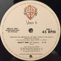 VANITY 6:NASTY GIRL(LABEL SIDE-A)