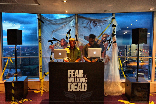 The Establishing Shot: FEAR THE WALKING DEAD LAUNCH – ZOMBIFIED  ZOMBIE WALKER FREIGHT TRAIN DJS @ TOP OF BT TOWER