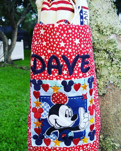 Large Water Bottle Carrier USA Disney Themed Monogrammed or Personalized | by Stitchcottage