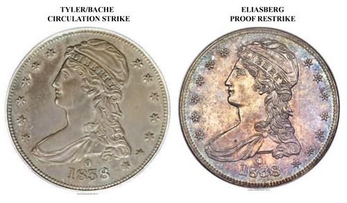 1838-O Half Dollar comparison