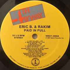 ERIC B. & RAKIM:PAID IN FULL(LABEL SIDE-A)