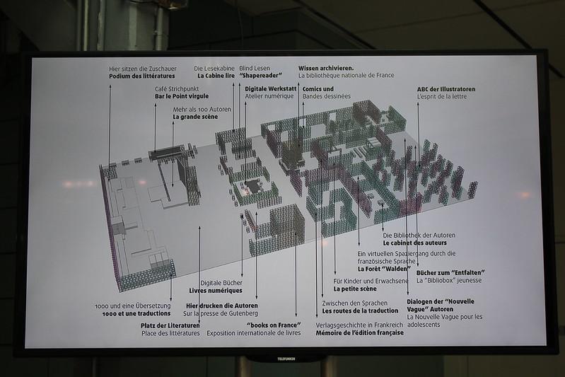 Le plan du pavillon français - Francfort en français