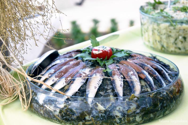 Блюдо с рыбкой