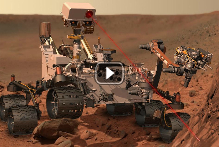 Zapping rocks on Mars