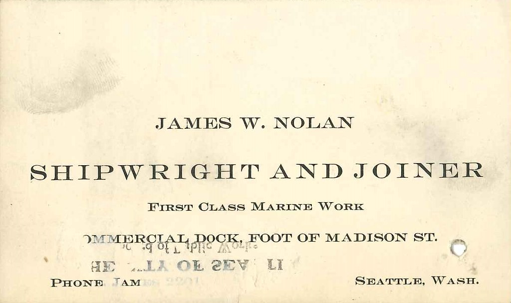 Business Card Circa 1905 Found In Folder Business Cards Flickr