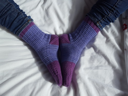 {Tricot} Blueberry Waffle Socks