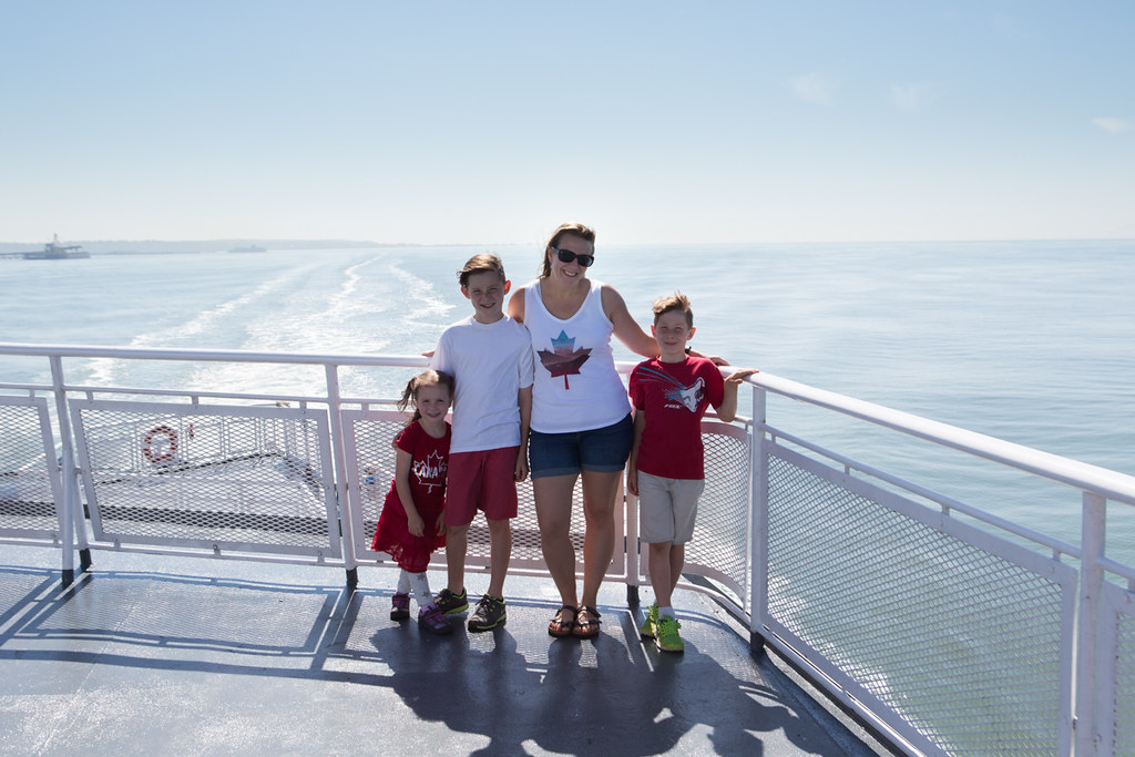 Abaord BC Ferries with kids
