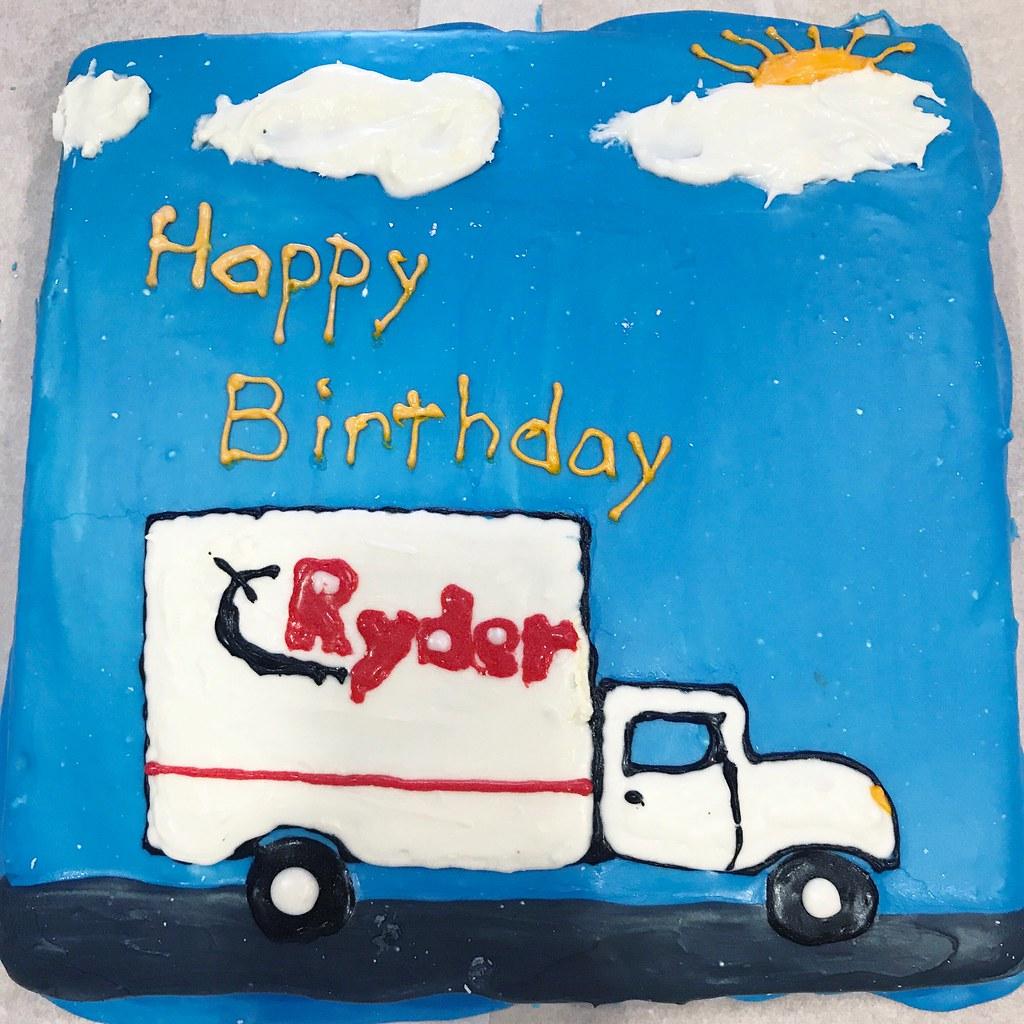 Ryder Truck Birthday Cake