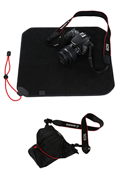 Protecting cloth for EOS 200D (Optional Accessory - PC-E2 ): Introduced with the new EOS 200D, the new protecting cloth is designed for the dual-purpose of easy storage and protection for both EOS DSLR cameras and lenses while on the move.