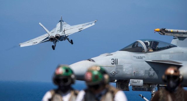 USS George H.W. Bush conducts flight operations.