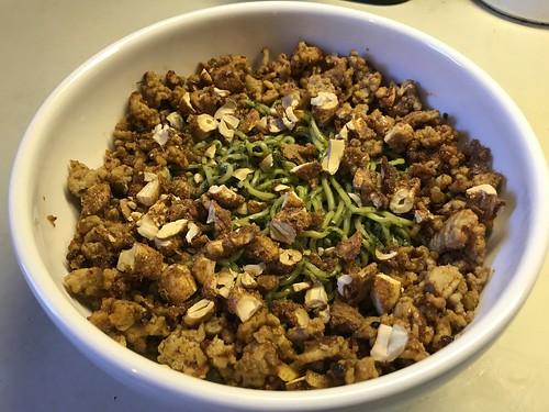 Chilled Szechuan noodles with pork