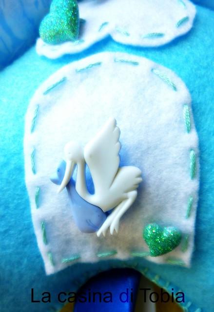 fiocco nascita personalizzato new baby born handmade by La casina di Tobia