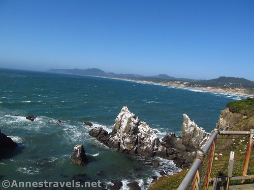 Views to the north of Yaquina Head Lighthouse near Newport, Oregon