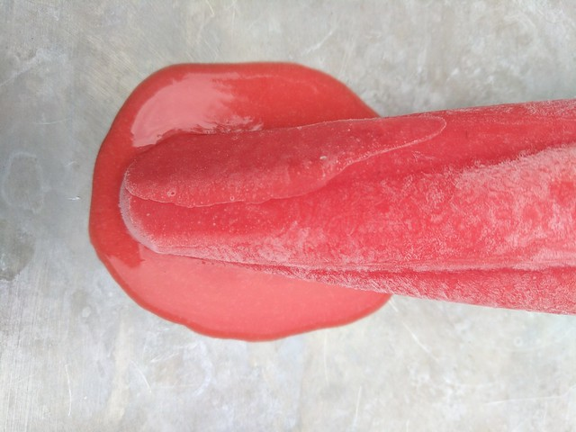 Strawberry and Cream Ice Pop