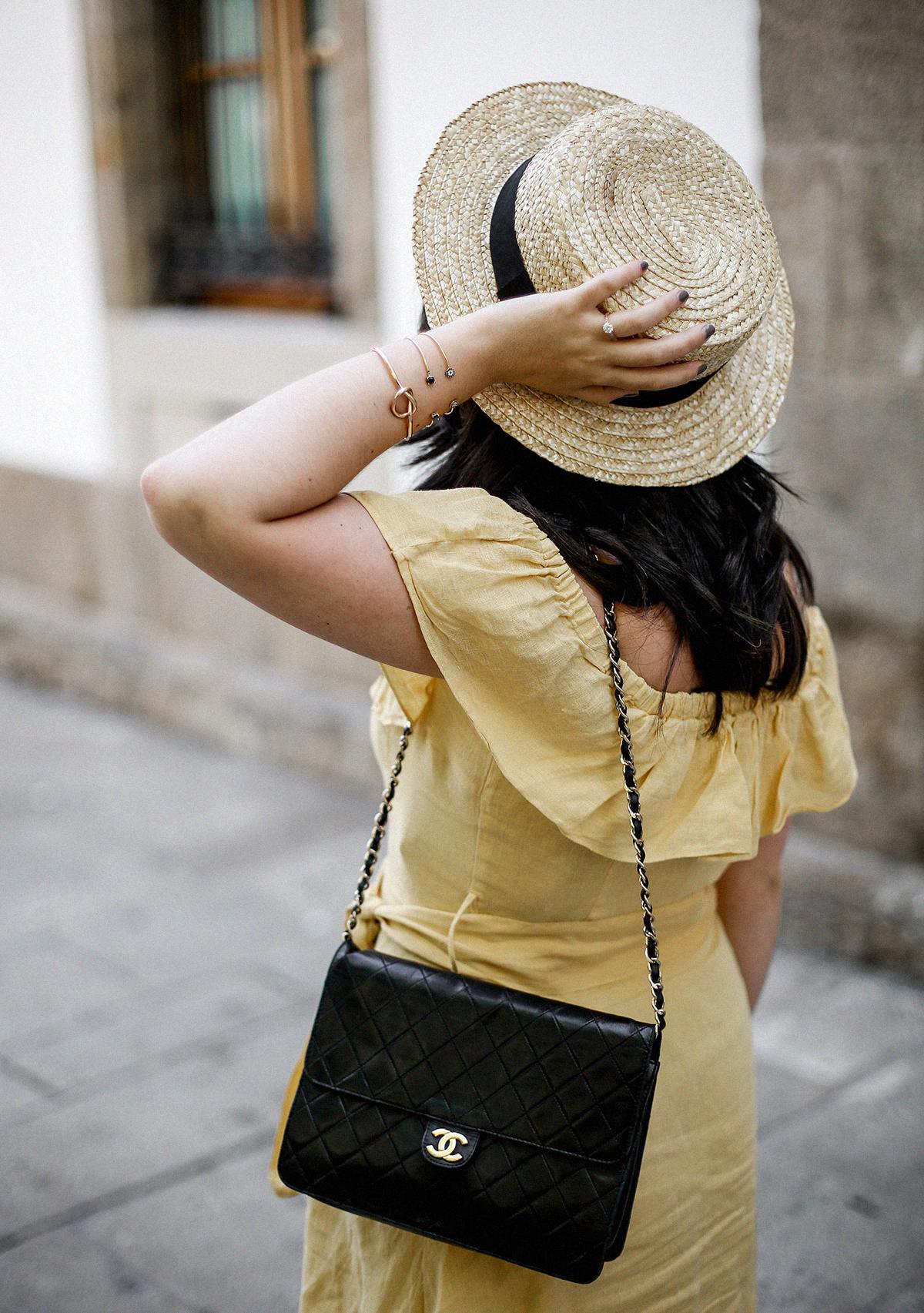 vestido-amarillo-hombros-descubiertos-zara-chanel-vintage-vestiaire-collective5