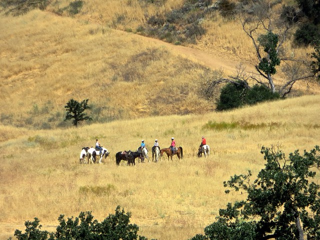 riders in the santa monica mountains