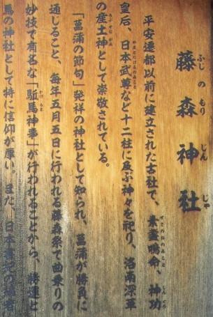 藤森神社の由来、起源