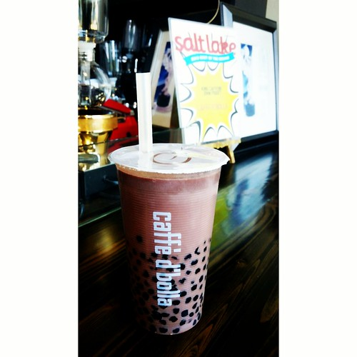 loaded chocolate bubble milk tea