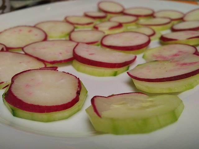 Cucumber and Radish