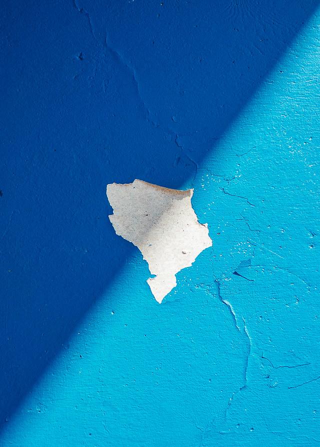 diagonal shadows on blue