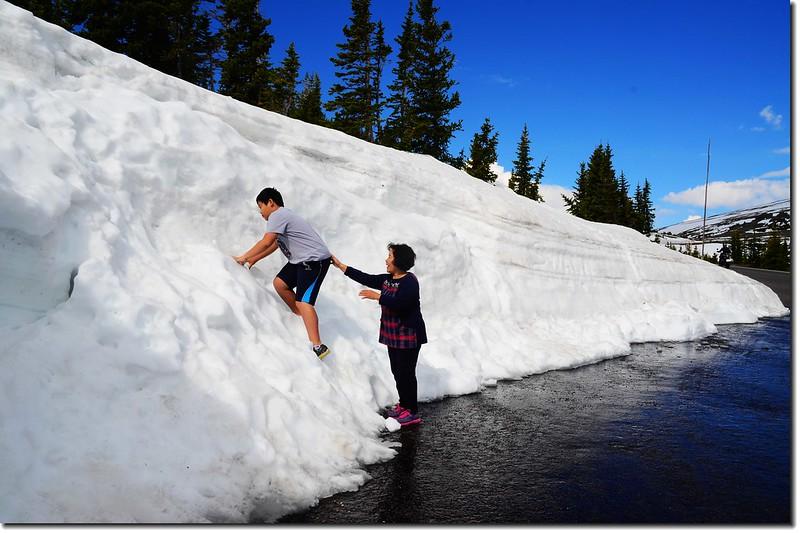 Snow wall along Trail Ridge Road 4