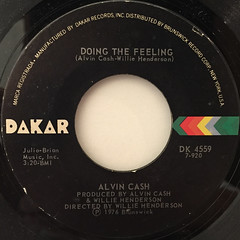 ALVIN CASH:DOING THE FEELING(LABEL SIDE-A)