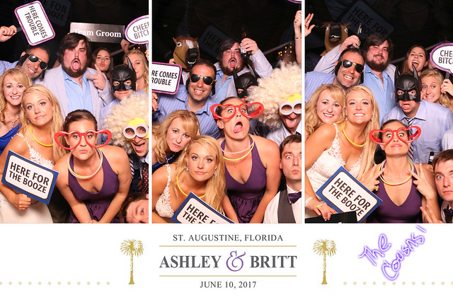photo booth rental wedding st. augustine, florida