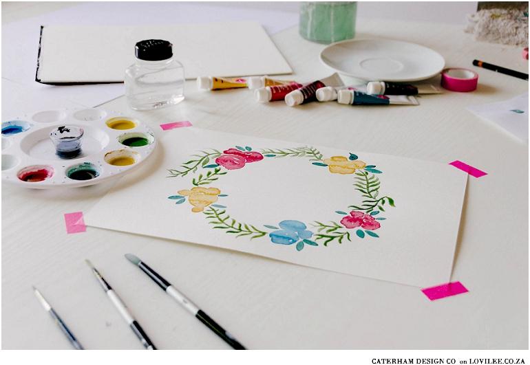 DIY watercolour wreath tutorial