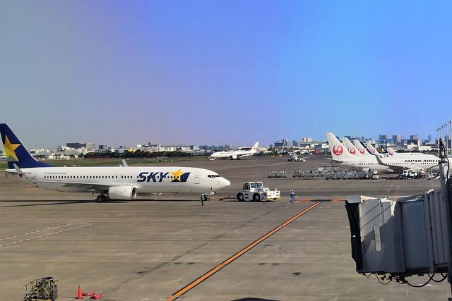 羽田空港・ジェット機