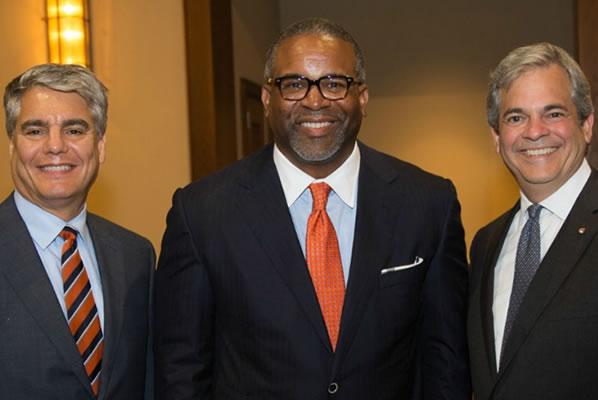 President Fenves, Dr. Vincent, Mayor Adler
