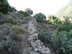 Montée au Pianu di Barculinu : les soutènements du sentier
