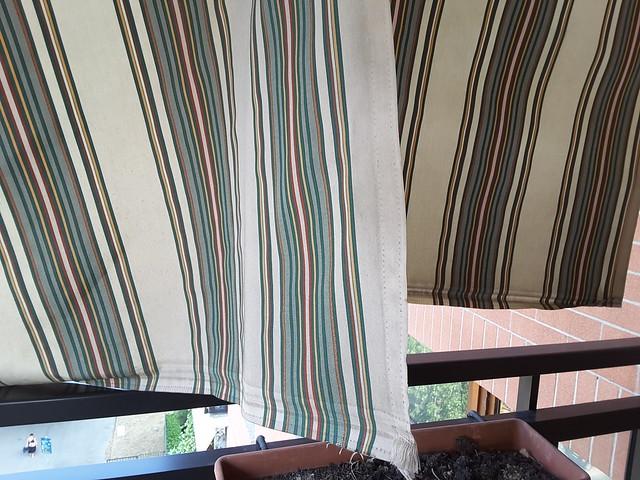 Tessuto tenda da sole scucito