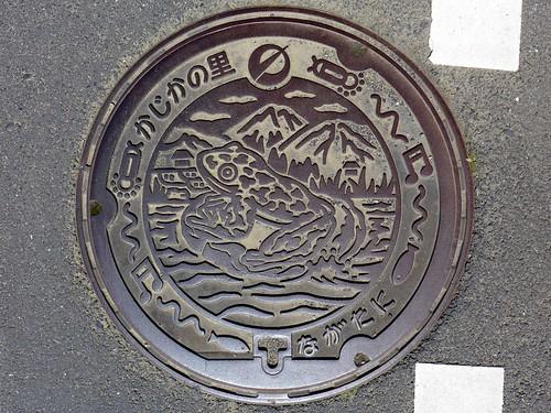 Nagatani Nomura Ehime, manhole cover (愛媛県野村町長谷のマンホール)