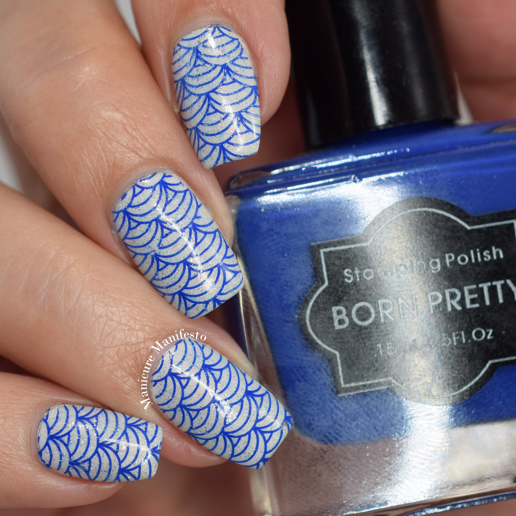 Born Pretty Store Dark Blue Stamping Polish swatch